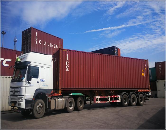 德州危险品集装箱进出口拖车